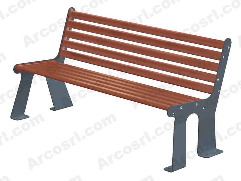 Benches bicolor with back
